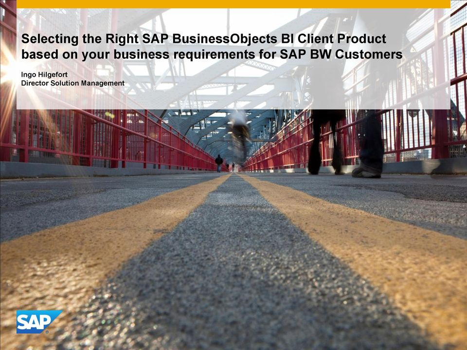 business requirements for SAP BW