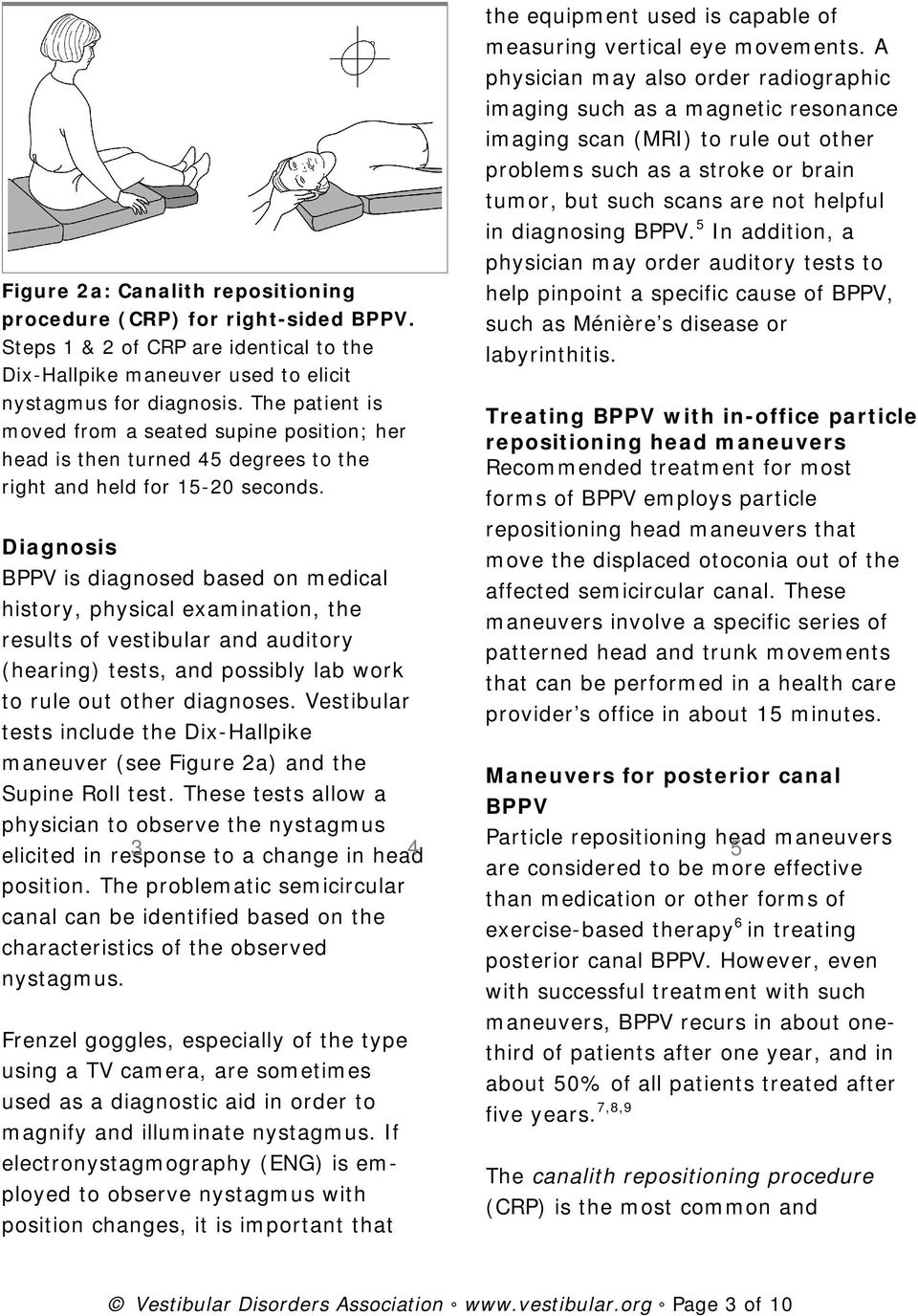 Diagnosis BPPV is diagnosed based on medical history, physical examination, the results of vestibular and auditory (hearing) tests, and possibly lab work to rule out other diagnoses.