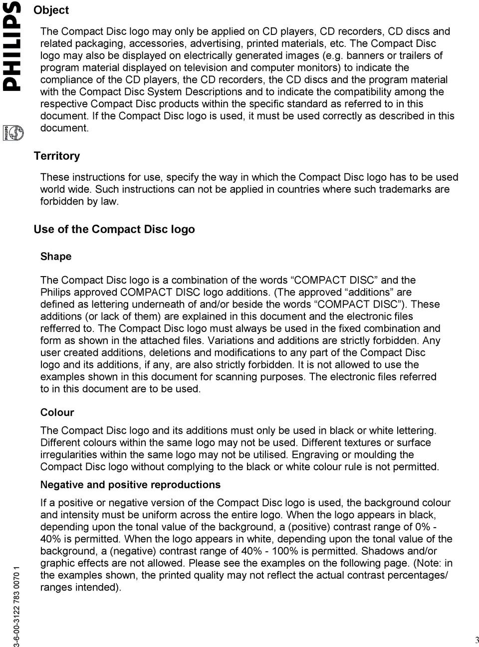 The official Philips Compact Disc (CD) LOGO GUIDE - PDF