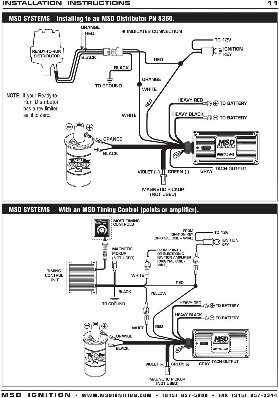msd wiring diagram point trigger msd digital 6a and 6al ignition control 6a - pn 6201, 6al ...