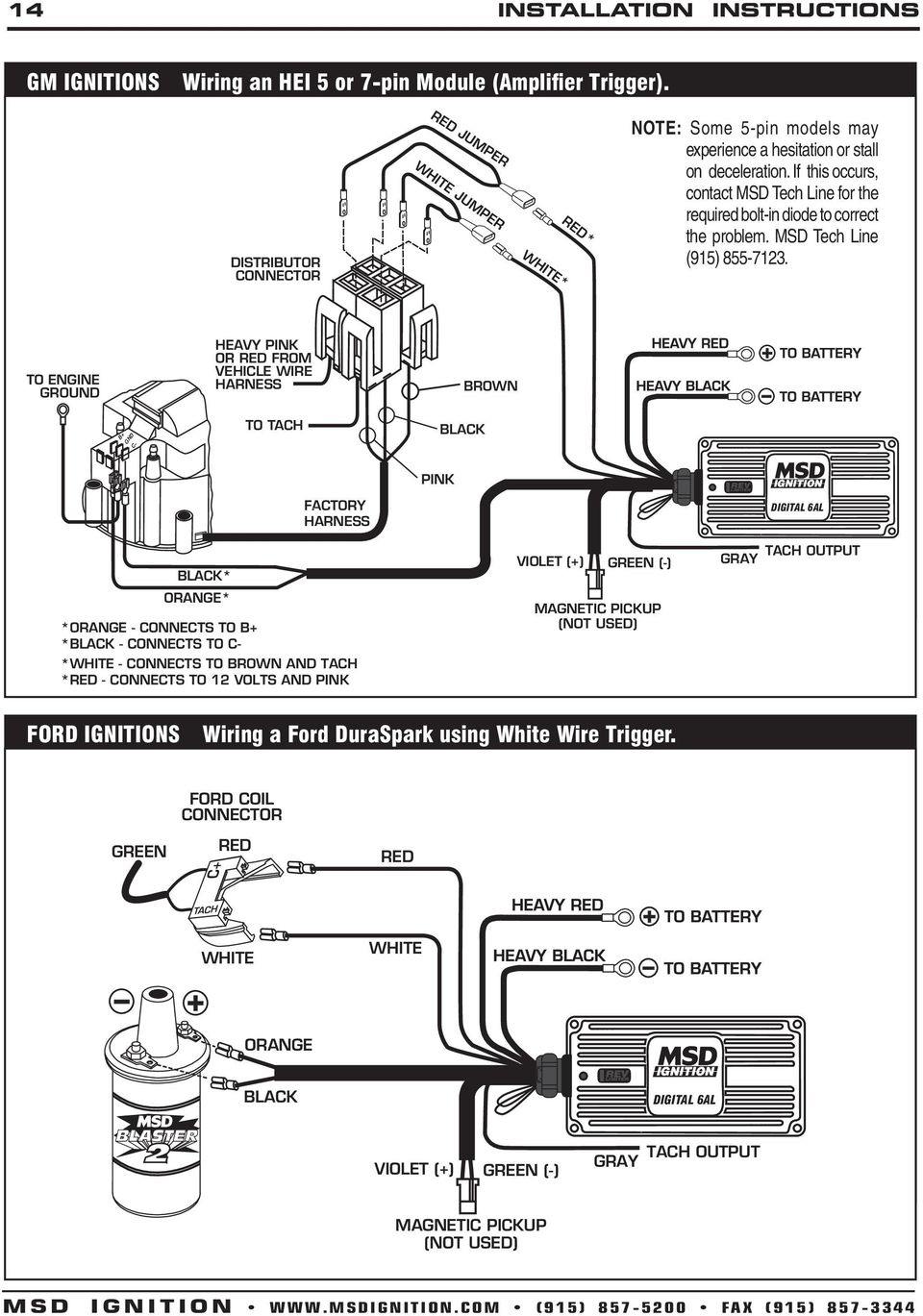 msd a wiring diagram gm hei solidfonts gm tach wiring automotive diagrams msd 6a