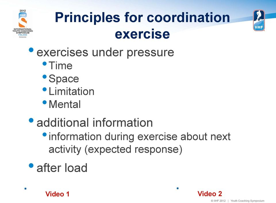 additional information information during exercise
