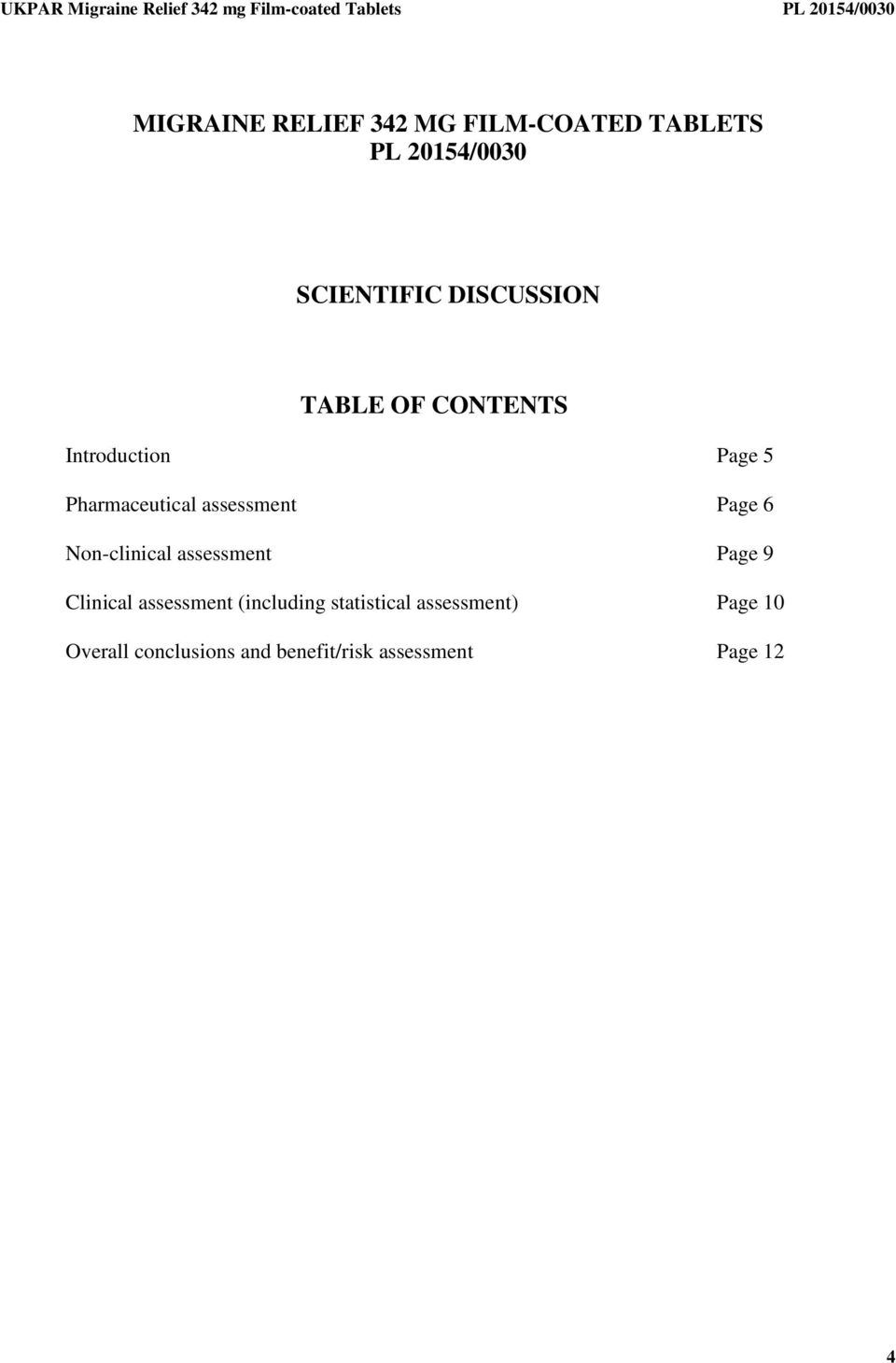 Page 6 Non-clinical assessment Page 9 Clinical assessment (including