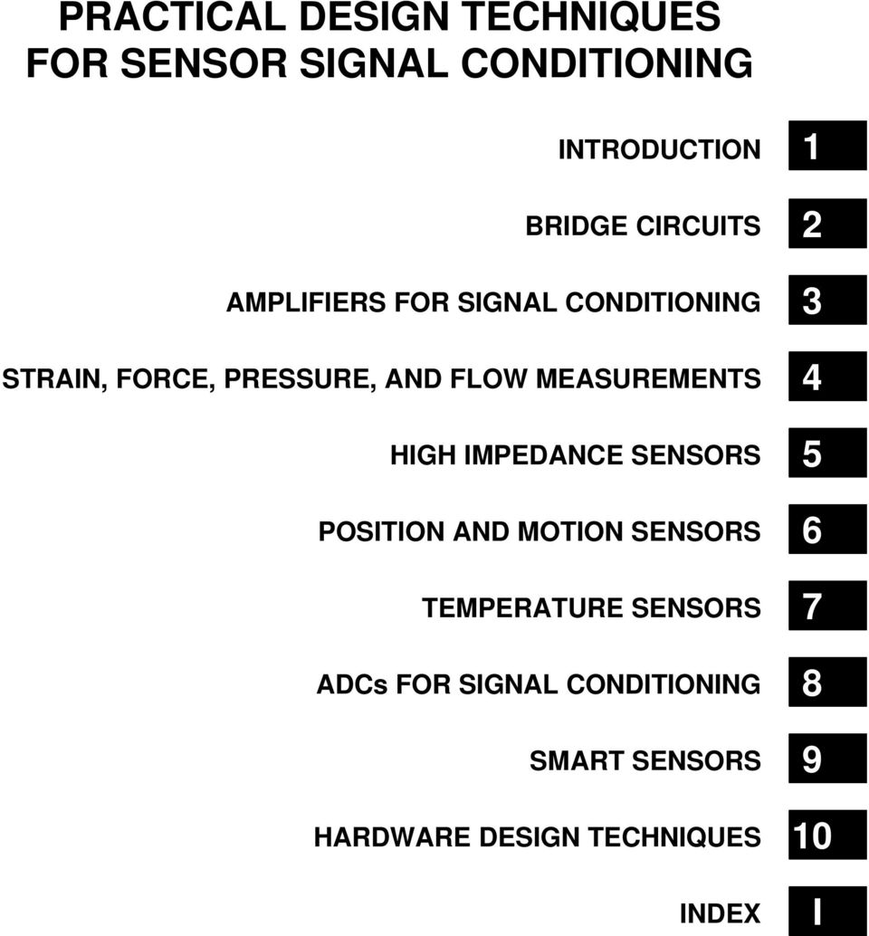 Practical Design Techniques For Sensor Signal Conditioning Pdf Analog Ad620 High Accuracy Instrumentation Amplifier Datasheet Impedance Sensors Position And Motion Temperature Adcs
