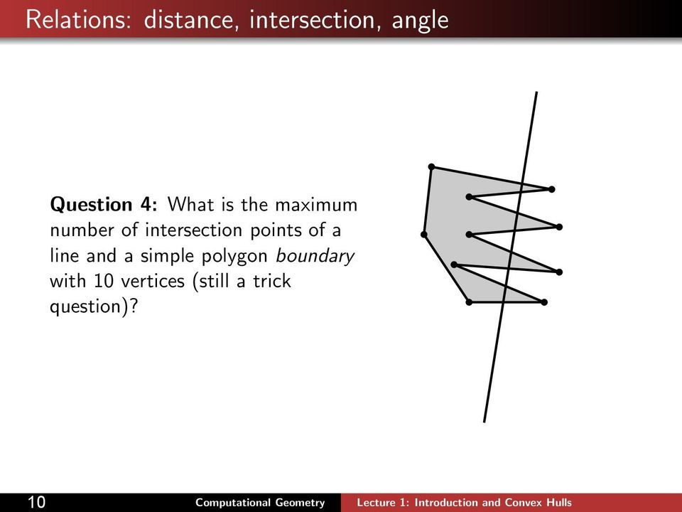 intersection points of a line and a simple