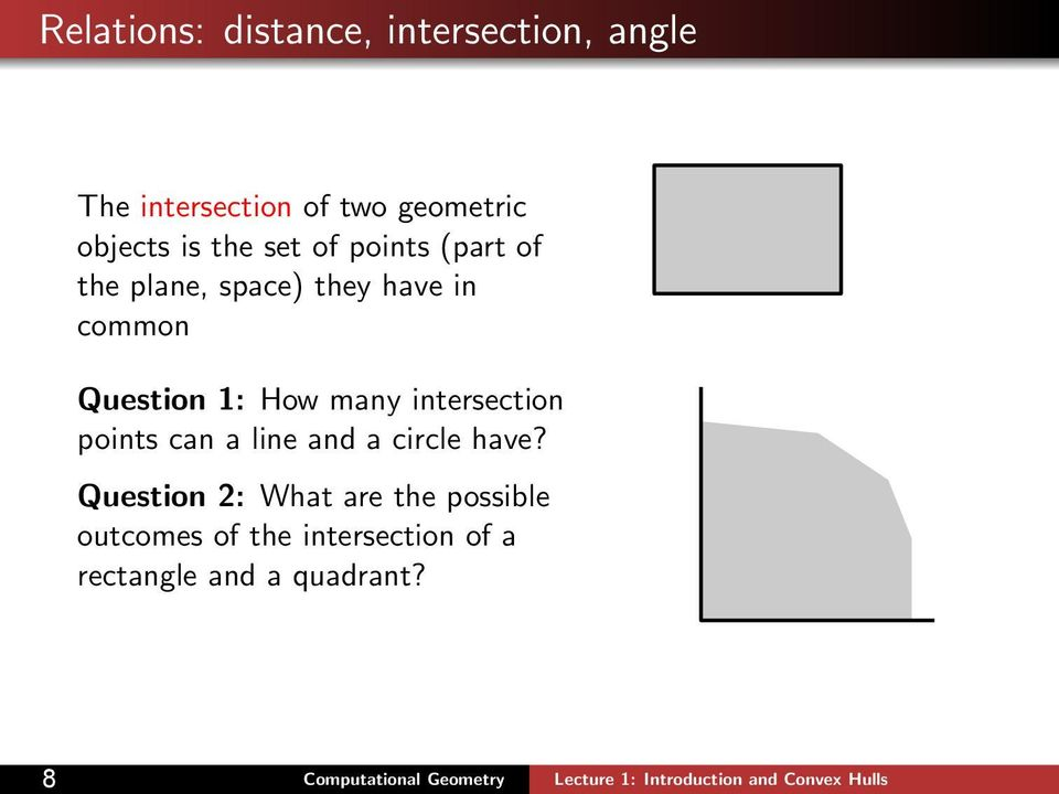Question 1: How many intersection points can a line and a circle have?