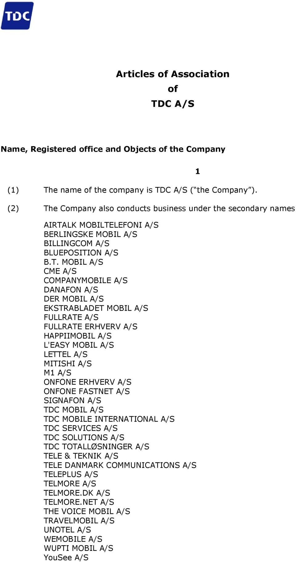 e Company also conducts business under the secondary names AIRTA