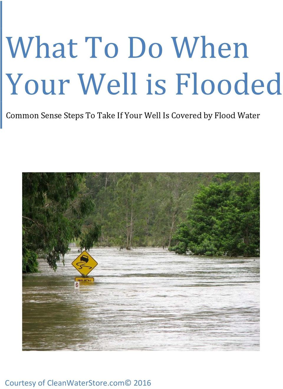 If Your Well Is Covered by Flood