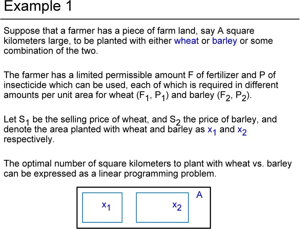 for wheat (F 1, P 1 ) and barley (F 2, P 2 ).