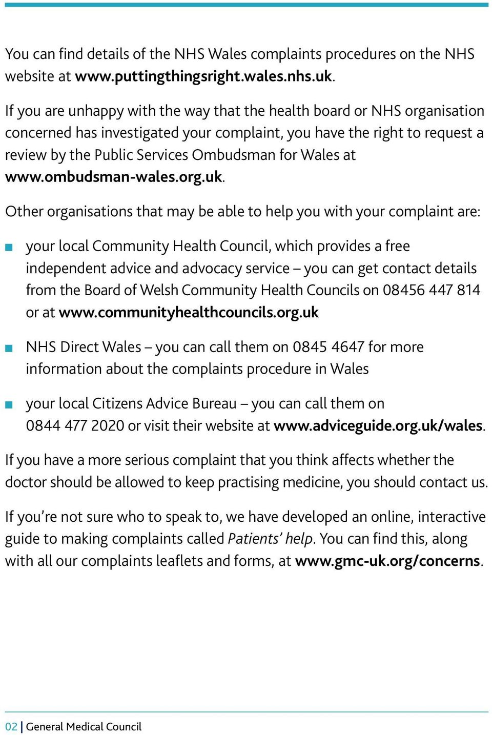 at www.ombudsman-wales.org.uk.