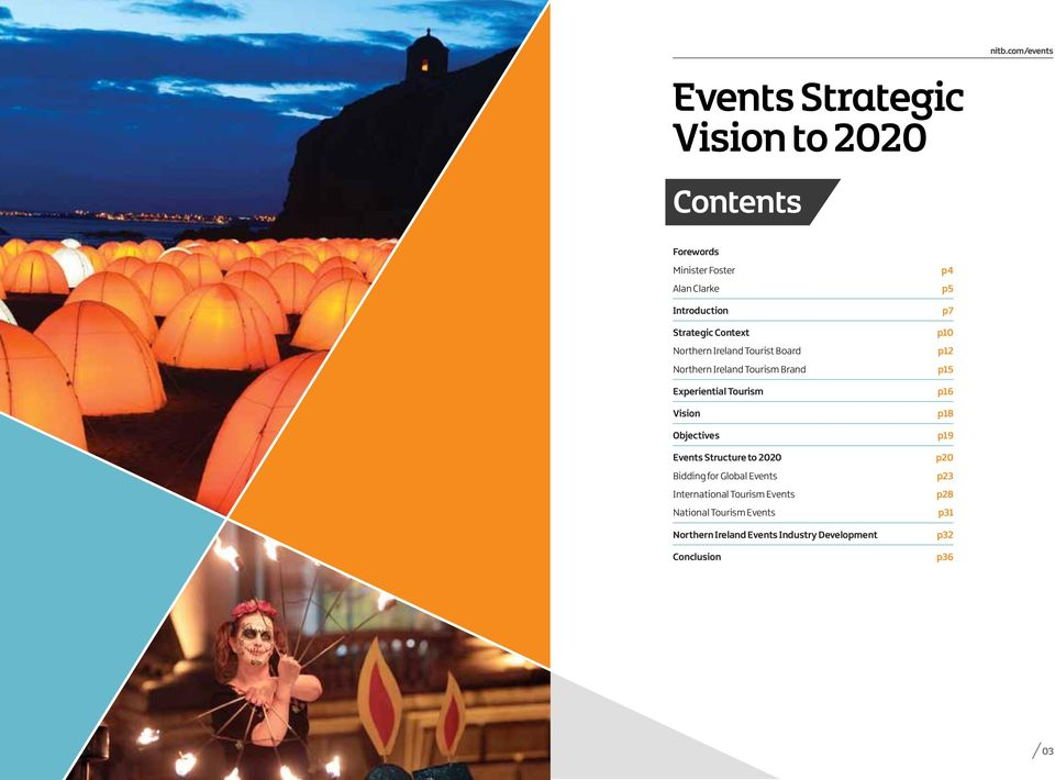 Objectives Events Structure to 2020 Bidding for Global Events International Tourism Events National Tourism