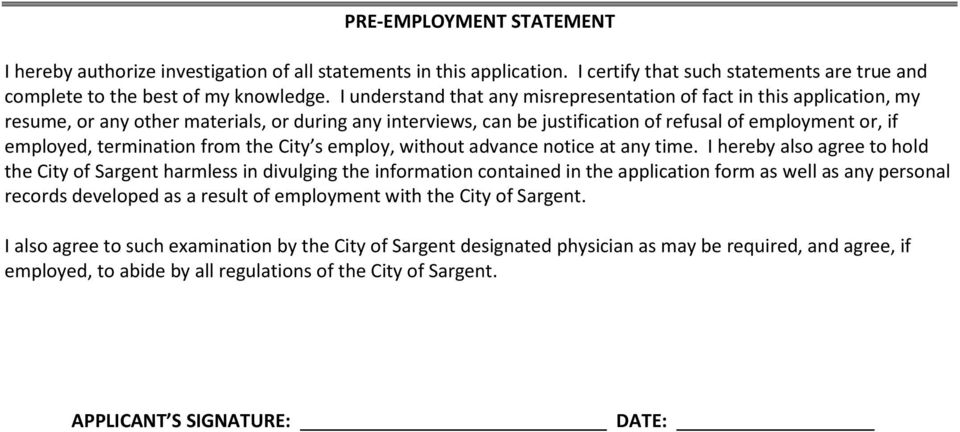 termination from the City s employ, without advance notice at any time.