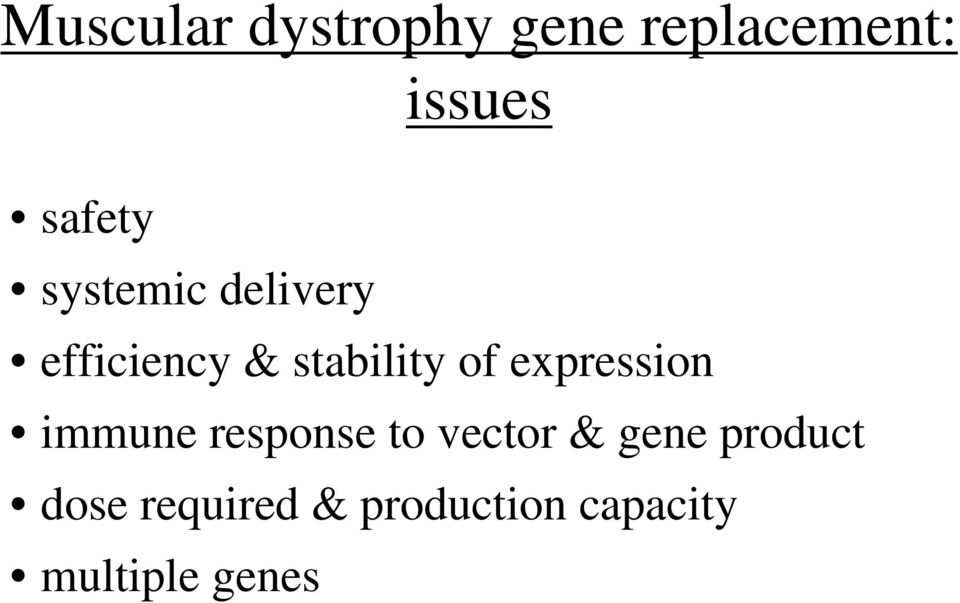 of expression immune response to vector & gene