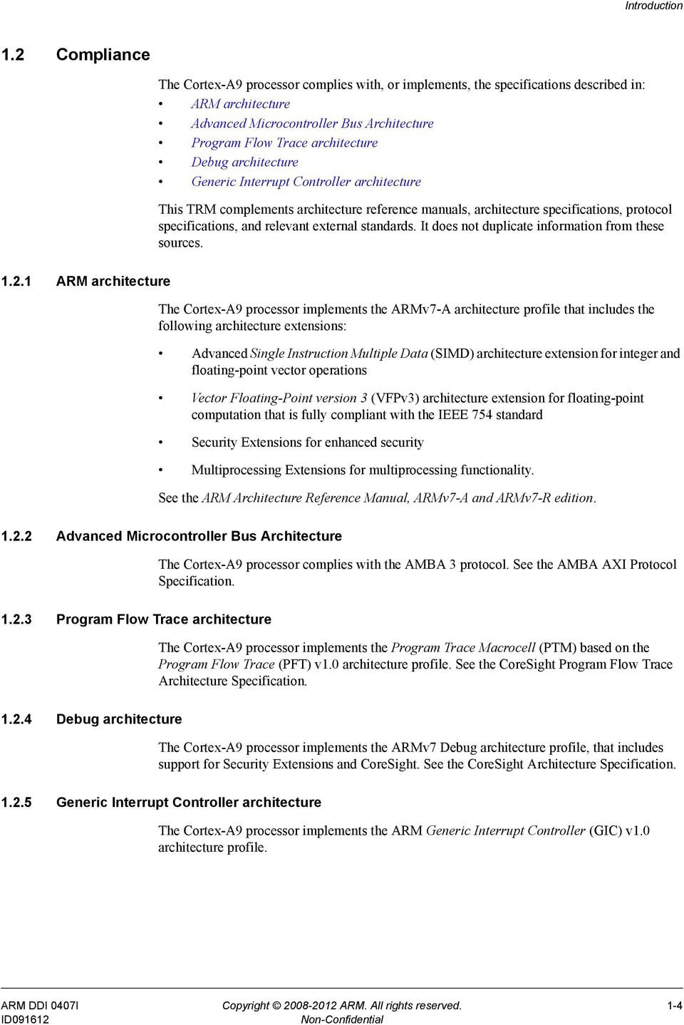 cortex a9 mpcore technical reference manual revision r4p1