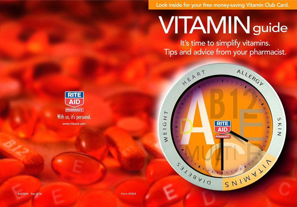 VITAMIN guide It s time to simplify vitamins.