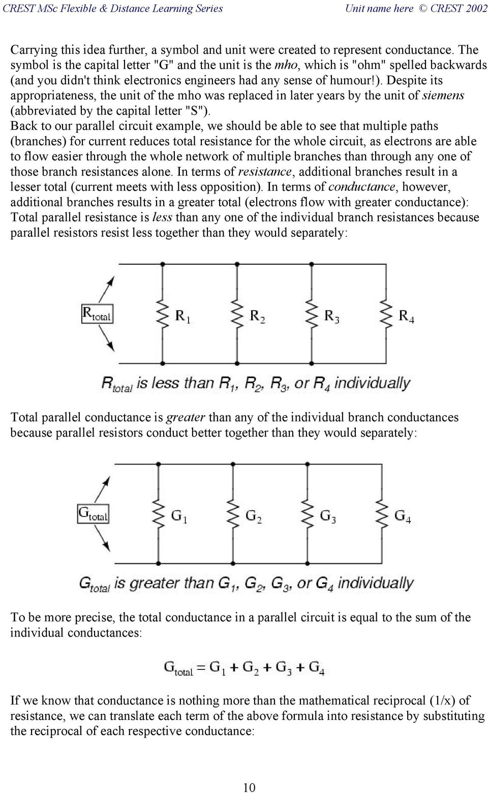 Fb Dc3 Electric Circuits Series And Parallel Pdf The Combined Resistance Of Resistors In Is Sum All Despite Its Appropriateness Unit Mho Was Replaced Later Years By 11 Solving Above Equation For Total