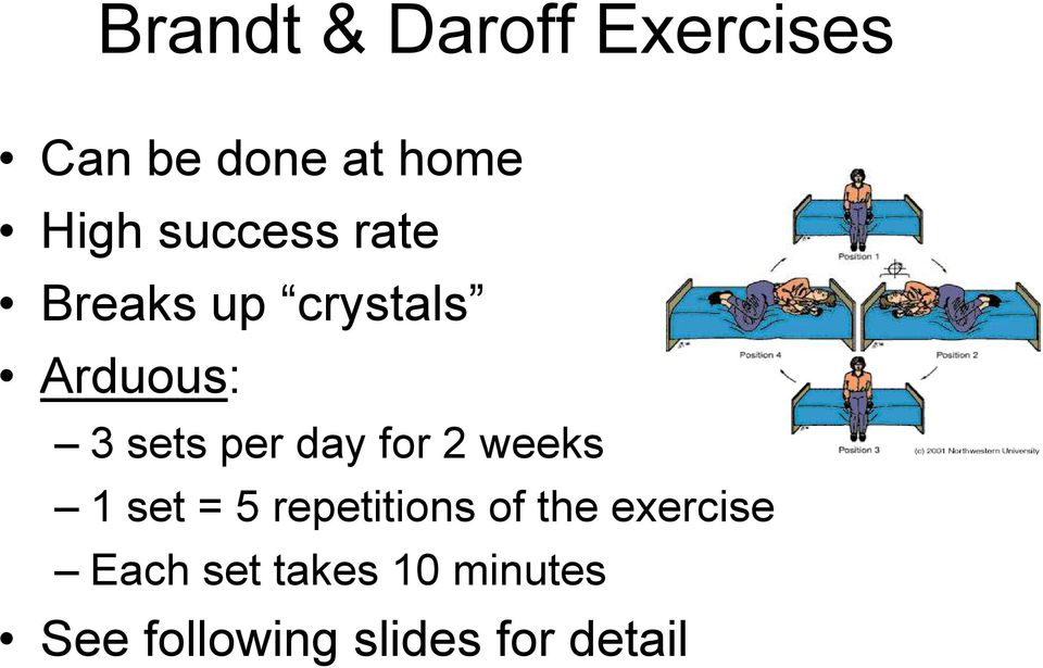 day for 2 weeks 1 set = 5 repetitions of the exercise