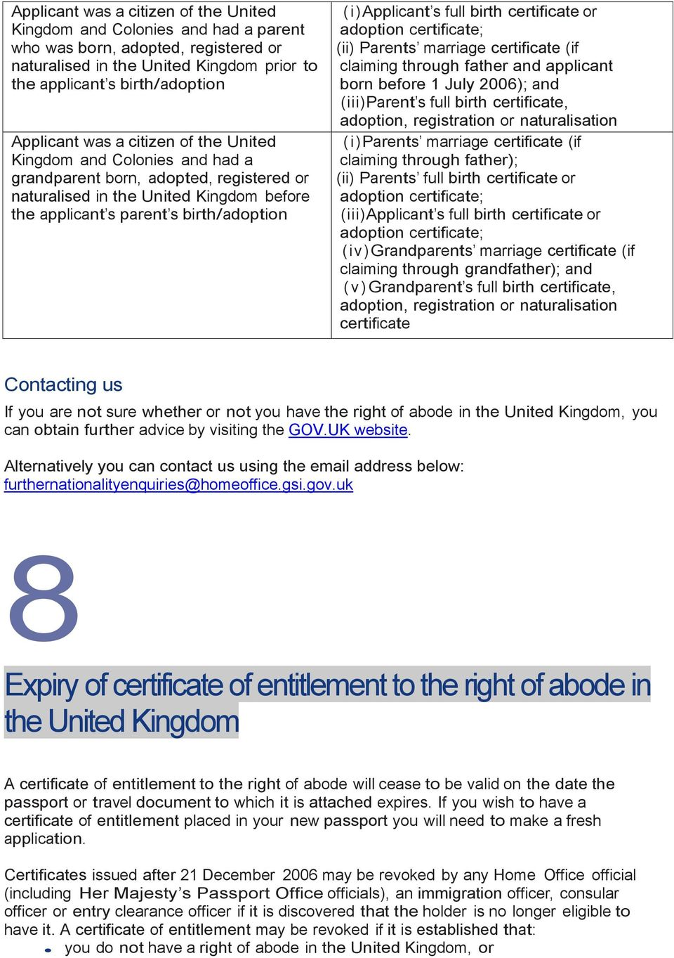 Guide ROA. Guide to the right of abode in the United Kingdom and ...