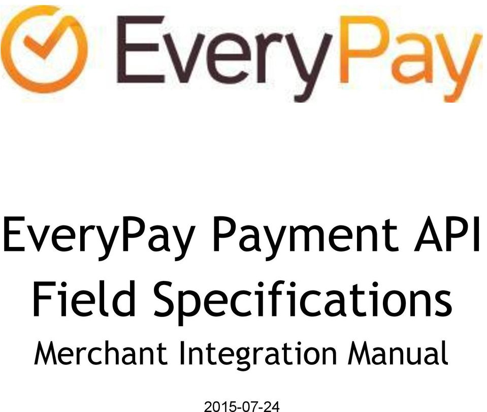EveryPay Payment API Field Specifications - PDF