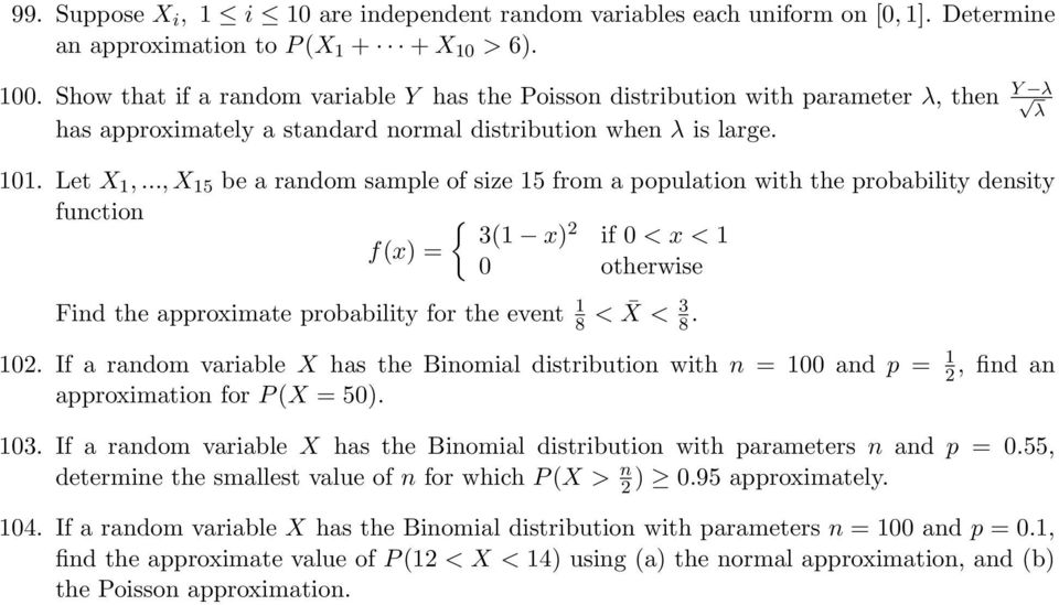 .., X 5 be a random sample of size 5 from a population with the probability density function 3( x) if 0