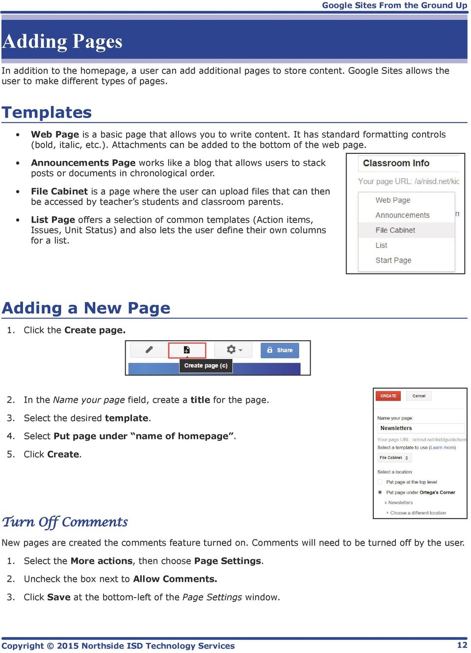 Announcements Page works like a blog that allows users to stack posts or documents in chronological order.