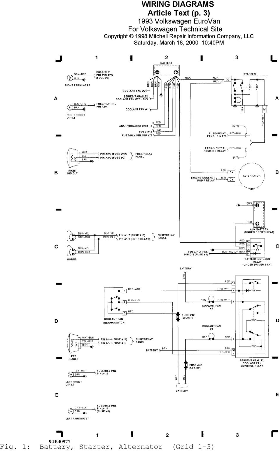 1993 wiring diagrams volkswagen wiring diagrams ... eurovan wiring diagram