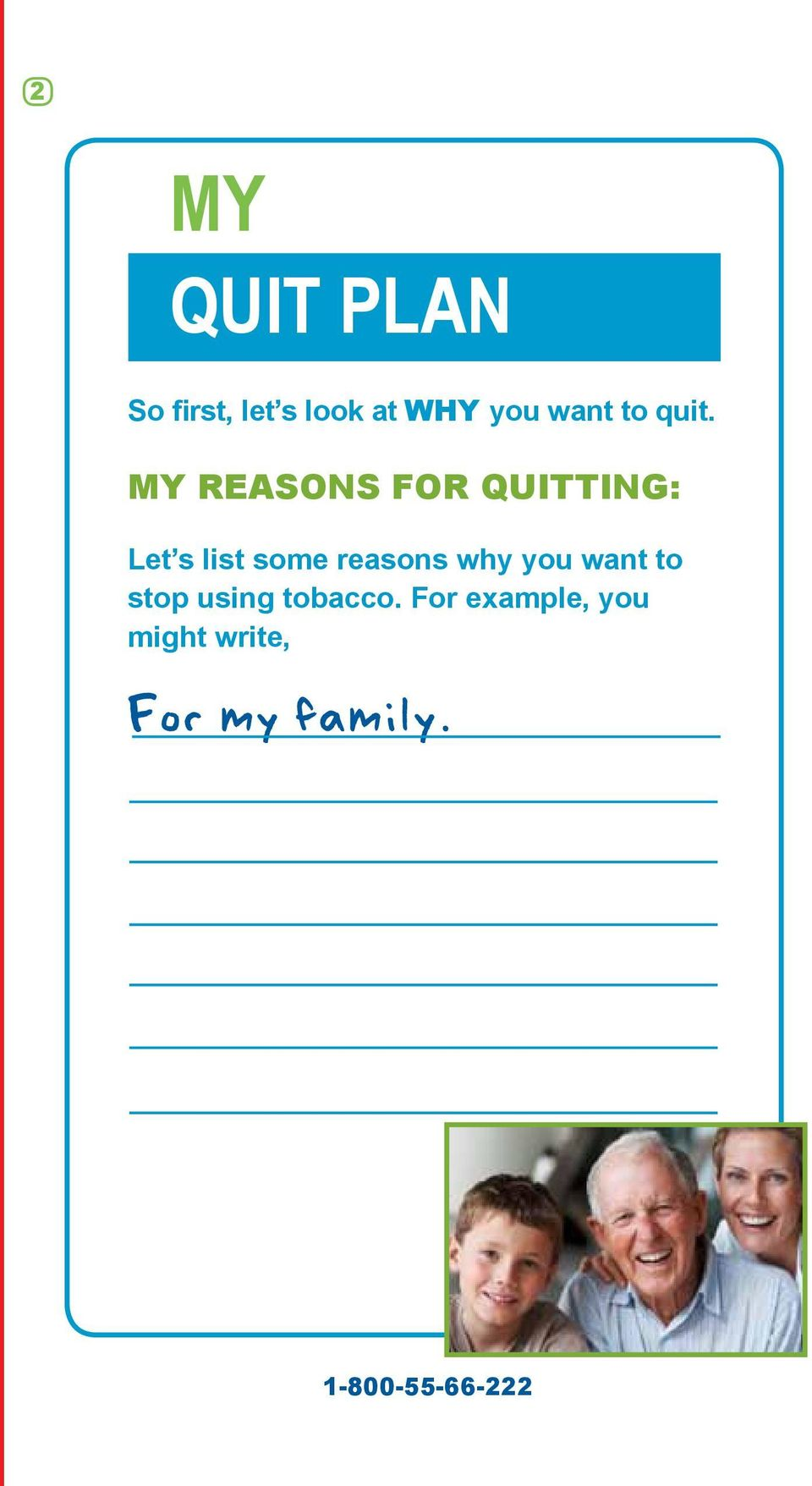 MY REASONS FOR QUITTING: Let s list some reasons