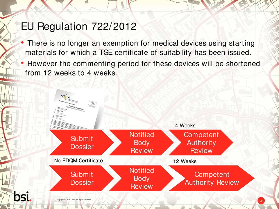 However the commenting period for these devices will be shortened from 12 weeks to 4 weeks.