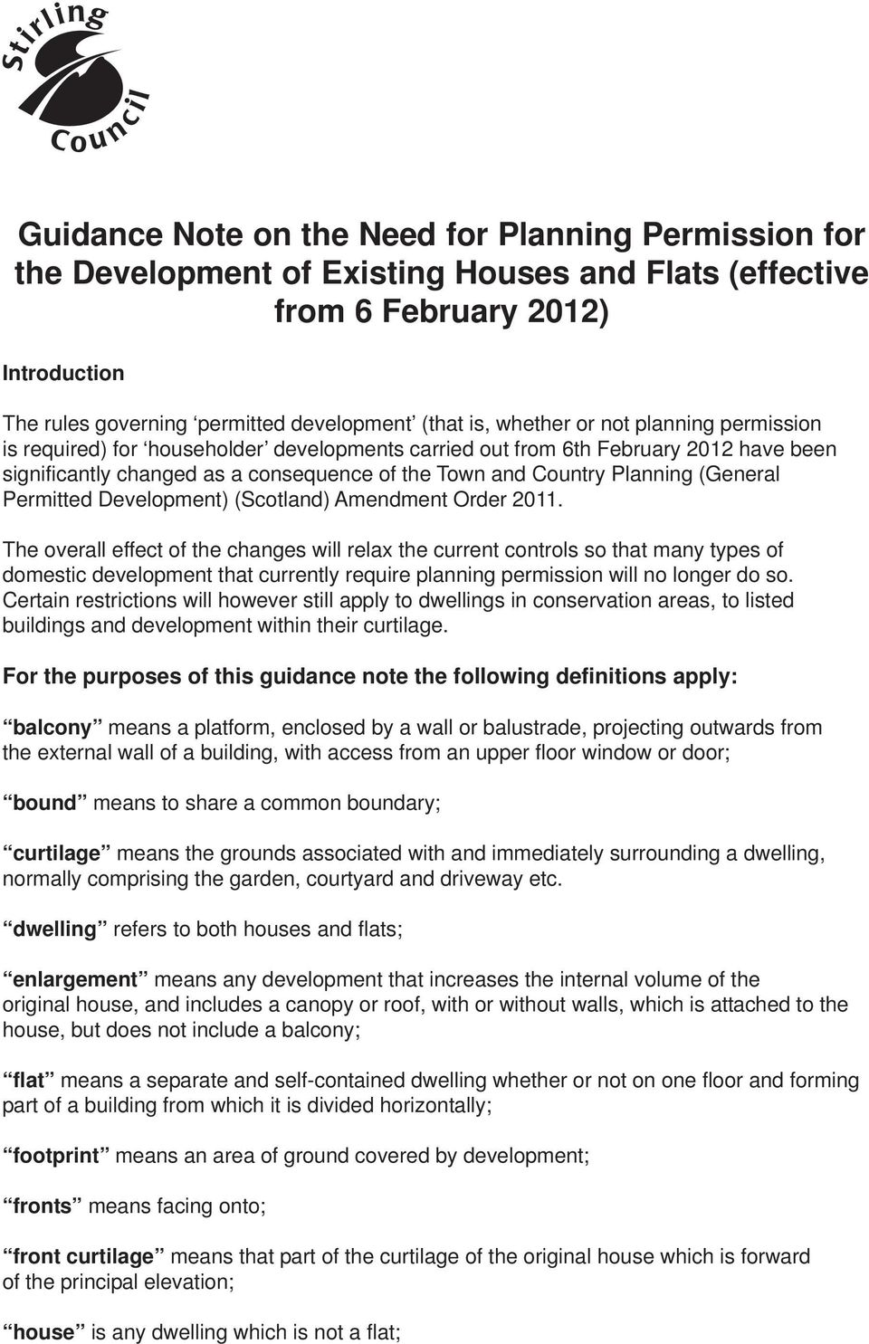 (General Permitted Development) (Scotland) Amendment Order 2011.