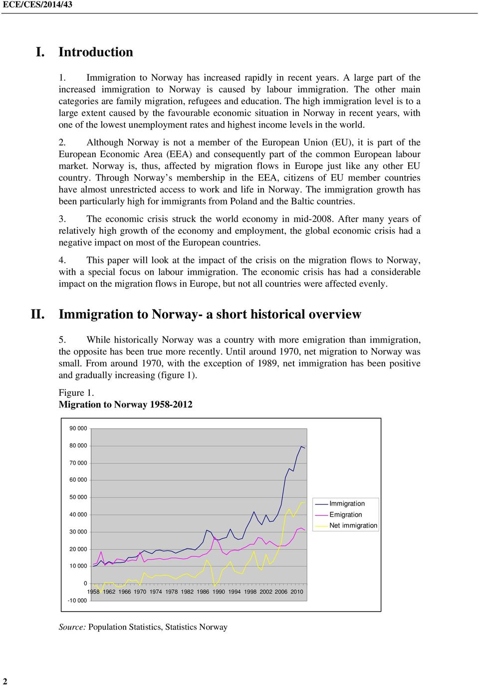 The high immigration level is to a large extent caused by the favourable economic situation in Norway in recent years, with one of the lowest unemployment rates and highest income levels in the world.