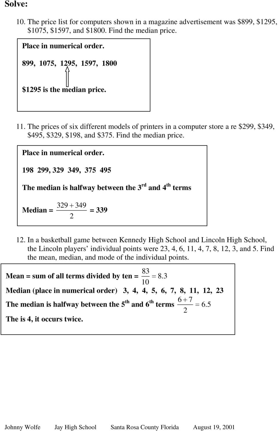 Mean Median And Mode Worksheets Doc mean median and mode – Mean Mode Median Worksheet