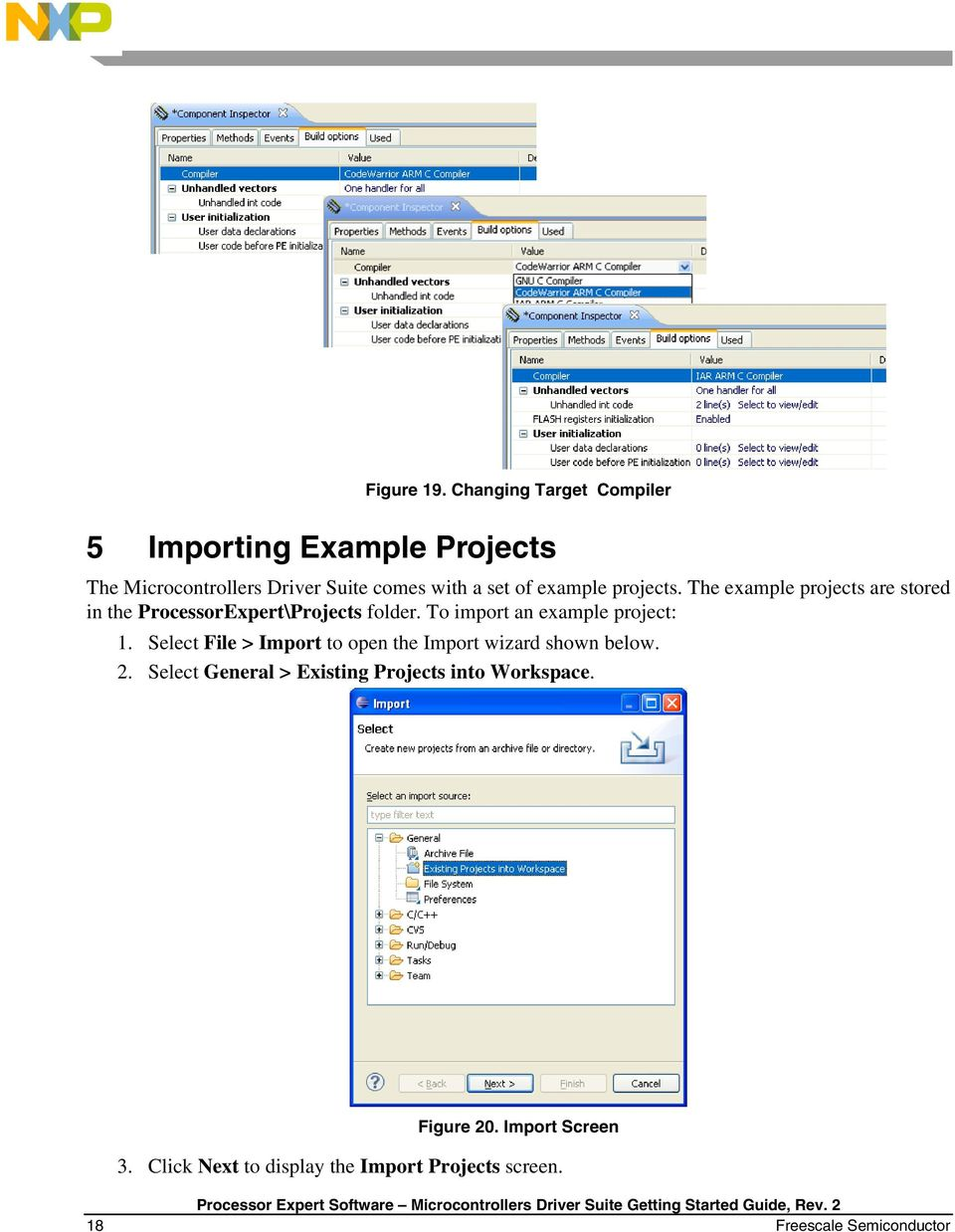 example projects. The example projects are stored in the ProcessorExpert\Projects folder.