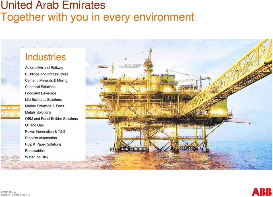 Solutions Marine Solutions & Ports Metals Solutions OEM and Panel Builder Solutions Oil and Gas