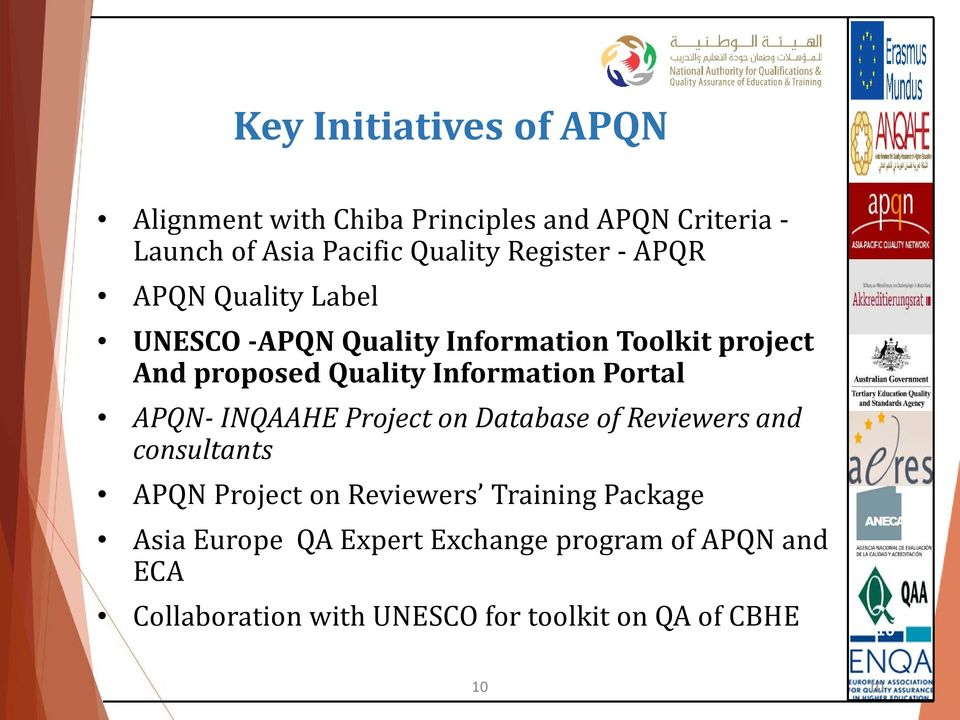 Information Portal APQN- INQAAHE Project on Database of Reviewers and consultants APQN Project on Reviewers