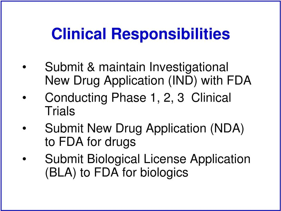 Clinical Trials Submit New Drug Application (NDA) to FDA for