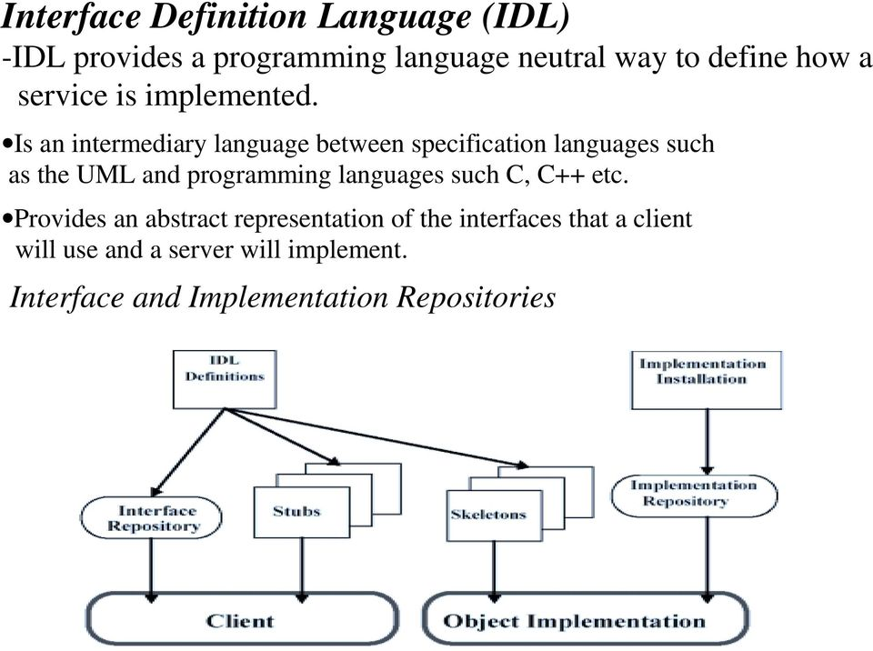 Is an intermediary language between specification languages such as the UML and programming