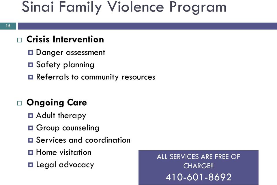 Ongoing Care Adult therapy Group counseling Services and