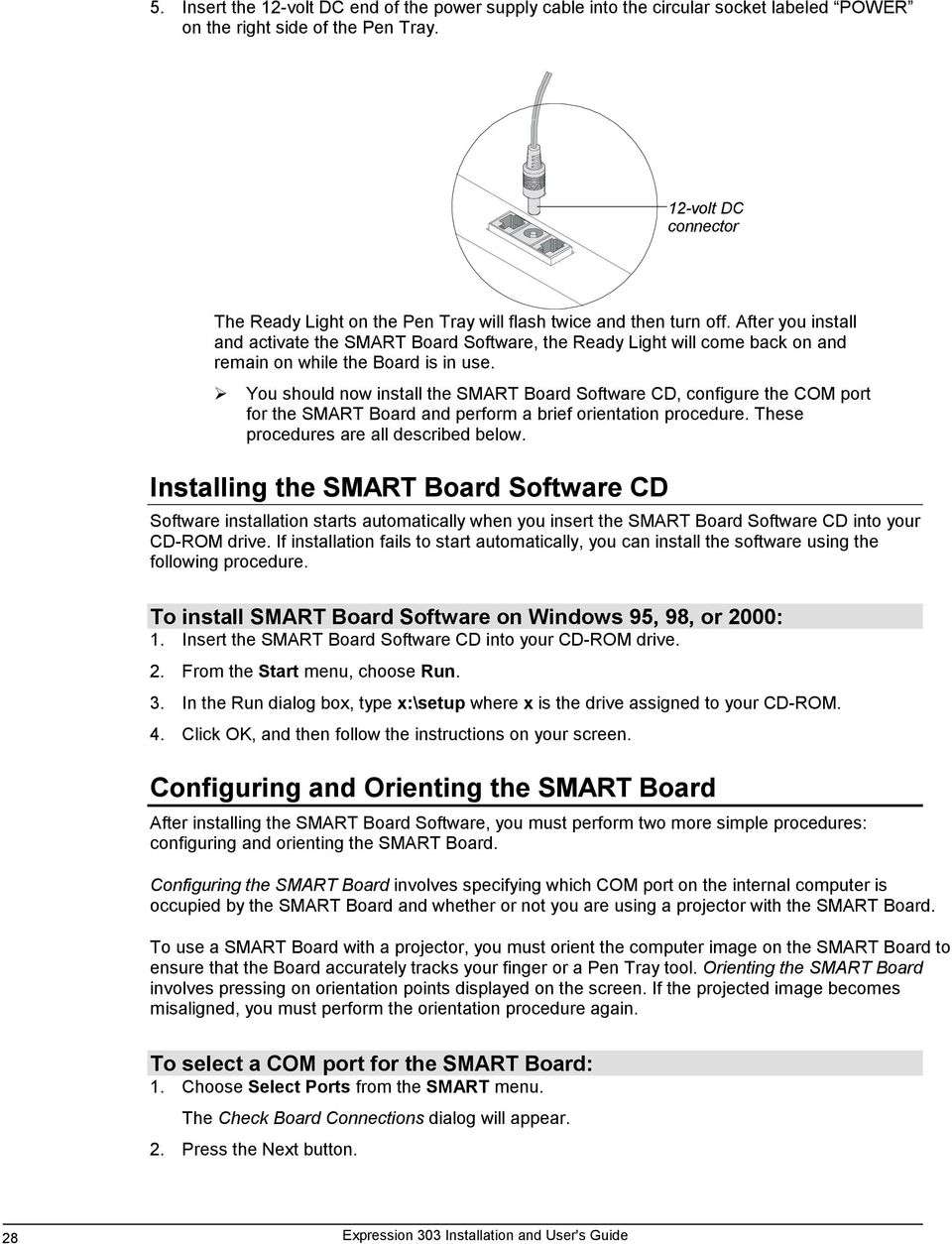 After you install and activate the SMAT Board Software, the eady ight will come back on and remain on while the Board is in use.