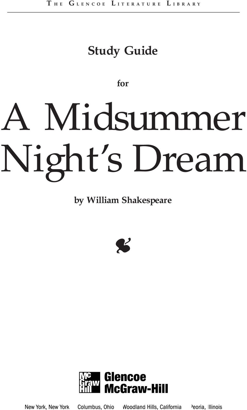 Human mentality in shakespeares a midsummer nights dream