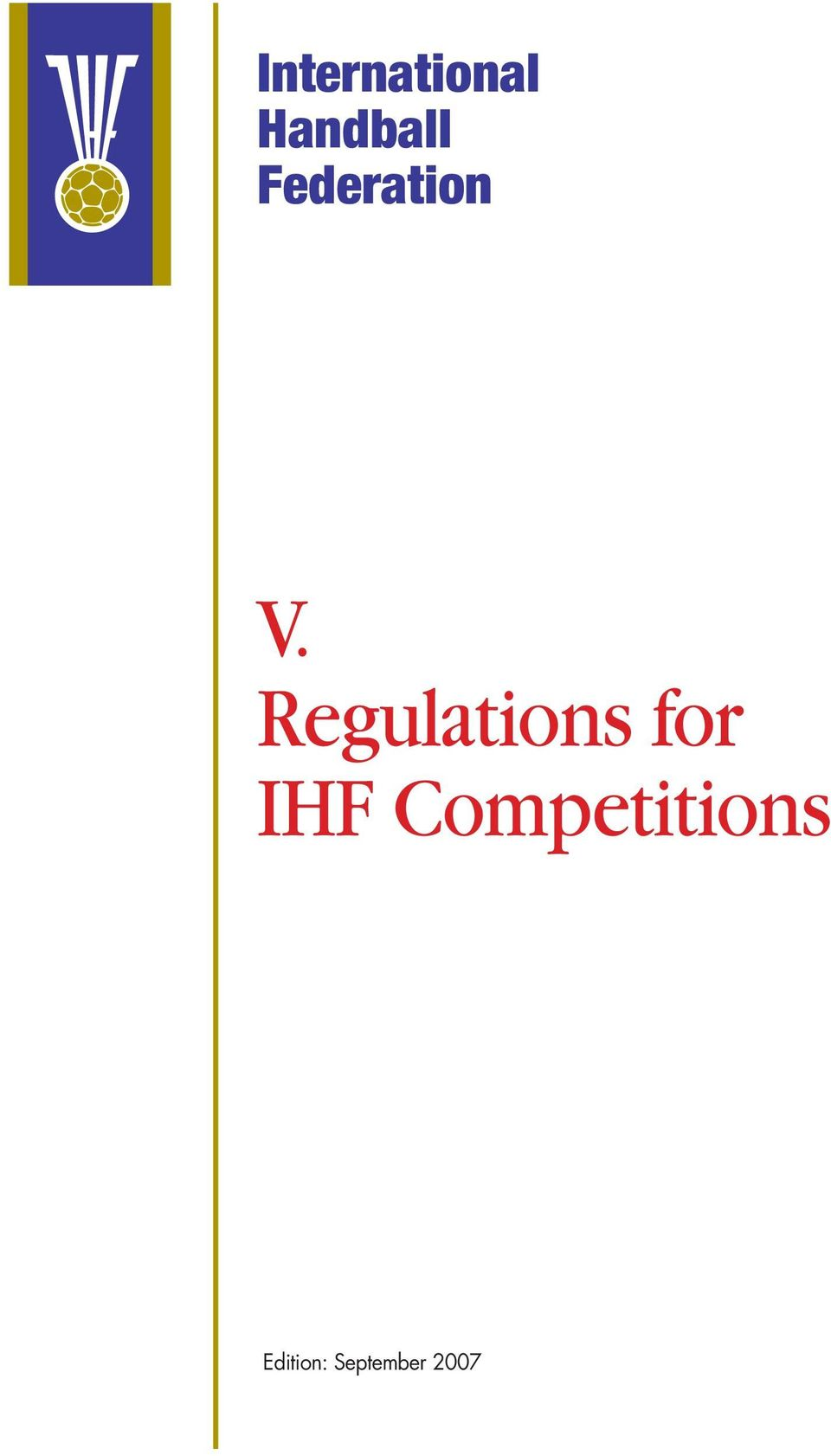 Regulations for IHF