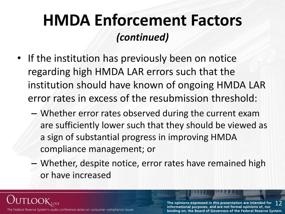 error rates observed during the current exam are sufficiently lower such that they should be viewed as a sign of