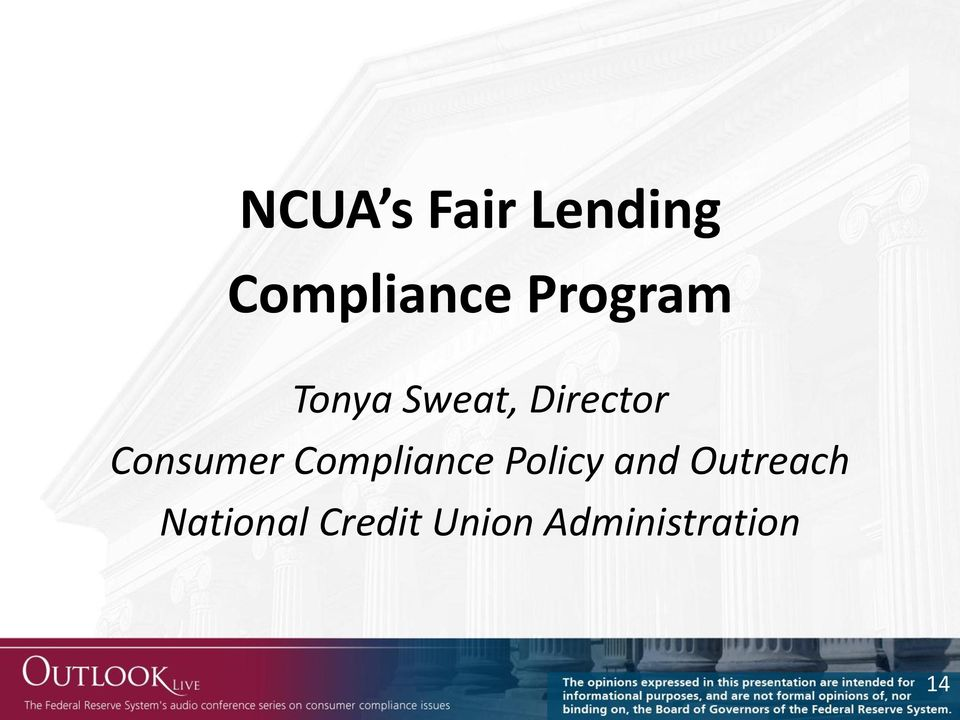 Consumer Compliance Policy and