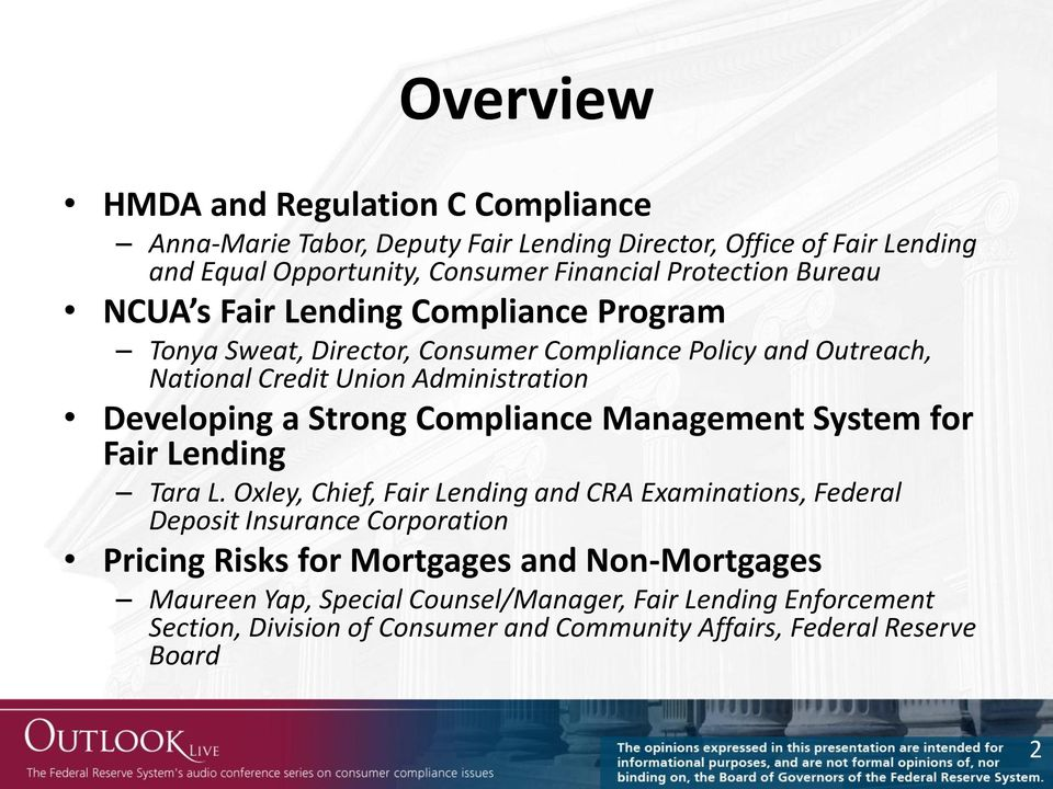 Developing a Strong Compliance Management System for Fair Lending Tara L.