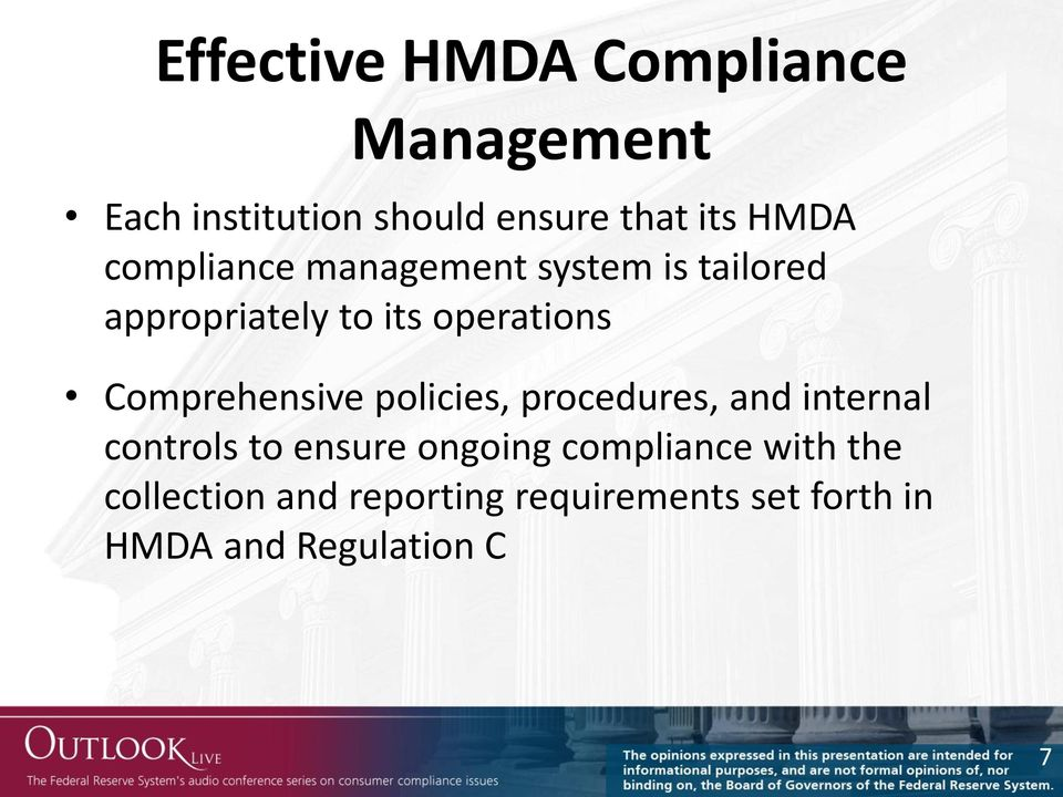 Comprehensive policies, procedures, and internal controls to ensure ongoing