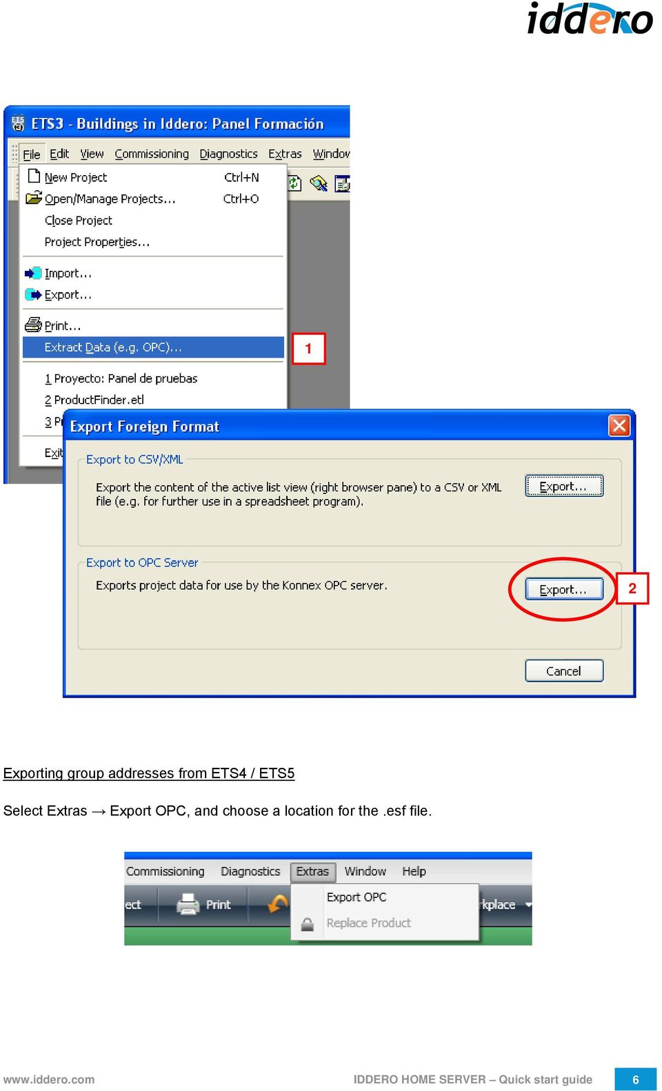 a location for the.esf file. www.iddero.