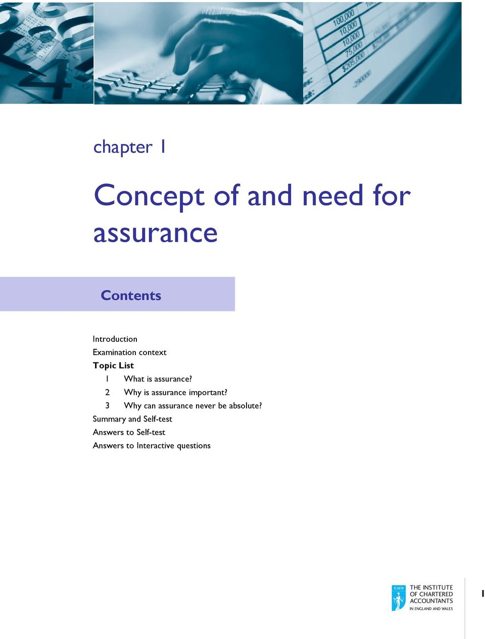 2 Why is assurance important?