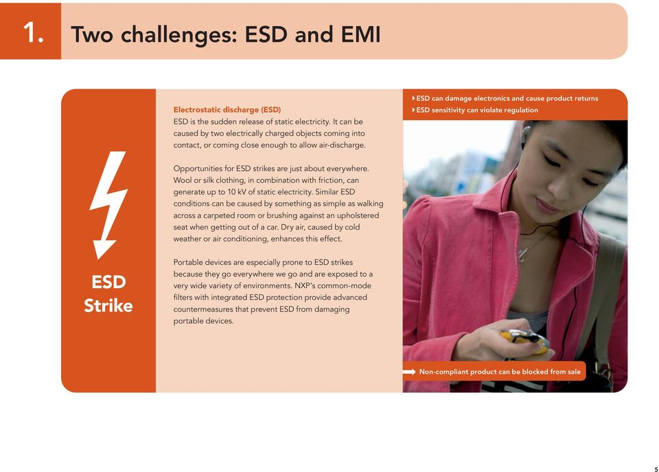 ESD can damage electronics and cause product returns ESD sensitivity can violate regulation Opportunities for ESD strikes are just about everywhere.