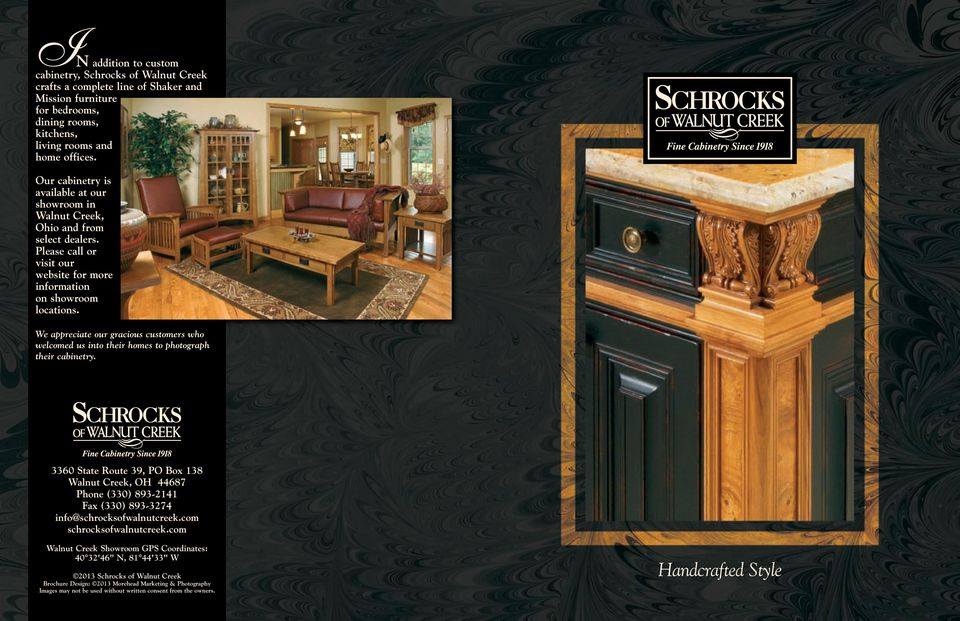 We appreciate our gracious customers who welcomed us into their homes to photograph their cabinetry.