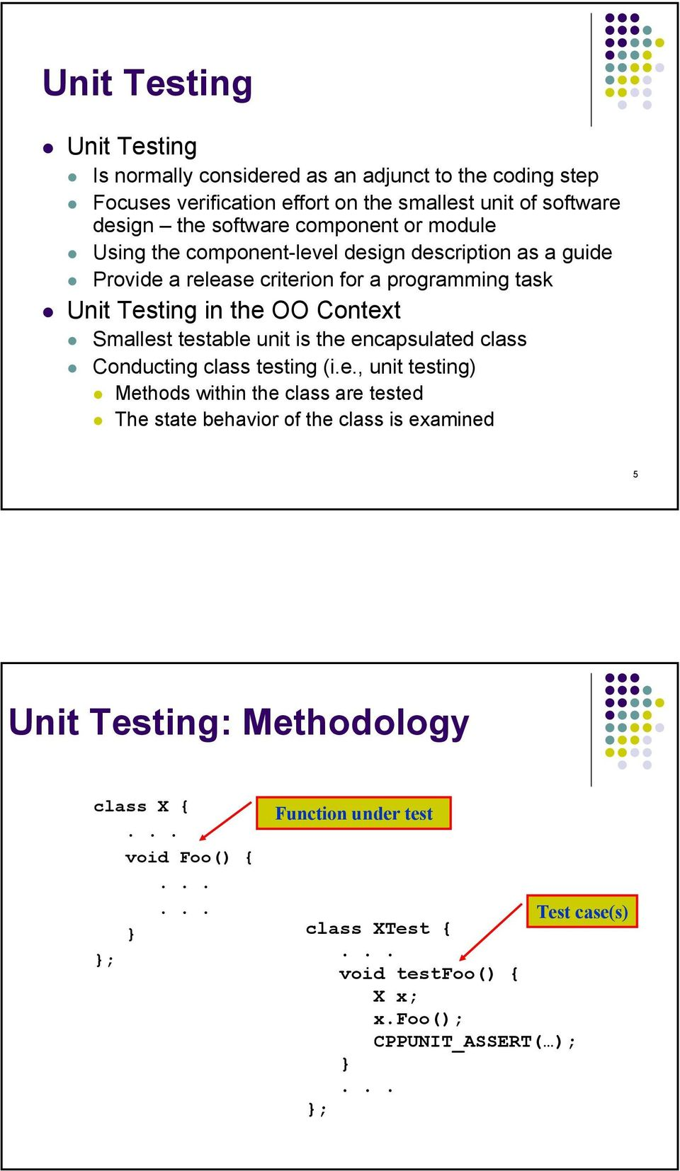 Unit Testing with JUnit and CppUnit - PDF