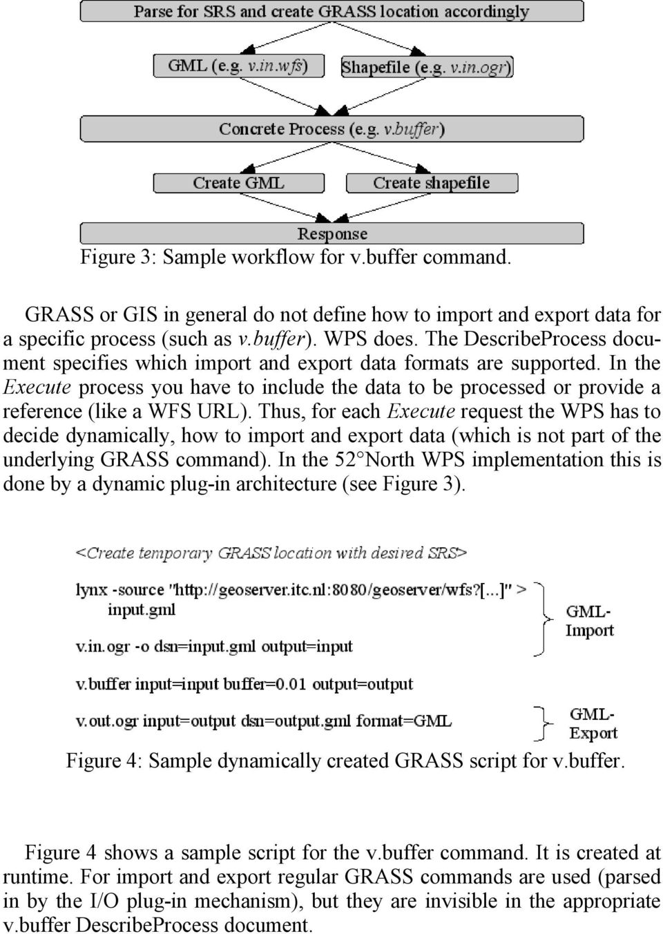 Thus, for each Execute request the WPS has to decide dynamically, how to import and export data (which is not part of the underlying GRASS command).